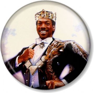 Eddie Murphy Akeem Joffer in Coming to America Pinback Button Badge Movie Comedy